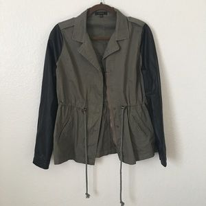 Jackets & Blazers - Military leather jacket
